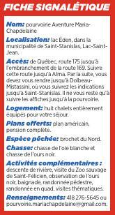 Fiche Pourv Aventure Maria Chapdelaine Journal Quebec